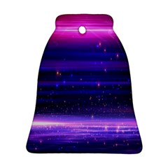 Space Planet Pink Blue Purple Bell Ornament (two Sides) by Alisyart