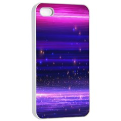 Space Planet Pink Blue Purple Apple Iphone 4/4s Seamless Case (white) by Alisyart