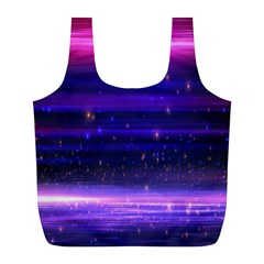 Space Planet Pink Blue Purple Full Print Recycle Bags (l)  by Alisyart