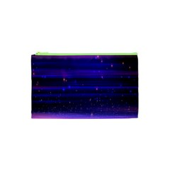 Space Planet Pink Blue Purple Cosmetic Bag (xs) by Alisyart