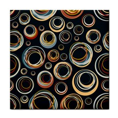 Seamless Cubes Texture Circle Black Orange Red Color Rainbow Tile Coasters by Alisyart