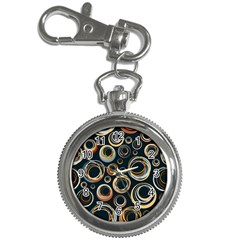 Seamless Cubes Texture Circle Black Orange Red Color Rainbow Key Chain Watches by Alisyart