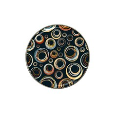 Seamless Cubes Texture Circle Black Orange Red Color Rainbow Hat Clip Ball Marker by Alisyart