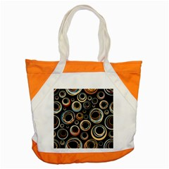 Seamless Cubes Texture Circle Black Orange Red Color Rainbow Accent Tote Bag by Alisyart
