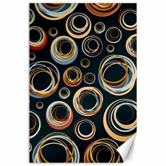 Seamless Cubes Texture Circle Black Orange Red Color Rainbow Canvas 24  X 36  by Alisyart