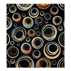 Seamless Cubes Texture Circle Black Orange Red Color Rainbow Shower Curtain 66  X 72  (large)  by Alisyart