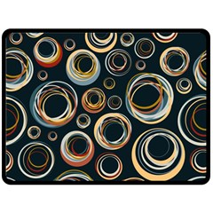 Seamless Cubes Texture Circle Black Orange Red Color Rainbow Fleece Blanket (large)  by Alisyart