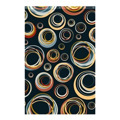 Seamless Cubes Texture Circle Black Orange Red Color Rainbow Shower Curtain 48  X 72  (small)  by Alisyart