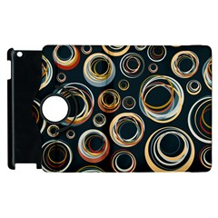 Seamless Cubes Texture Circle Black Orange Red Color Rainbow Apple Ipad 2 Flip 360 Case by Alisyart