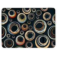 Seamless Cubes Texture Circle Black Orange Red Color Rainbow Samsung Galaxy Tab 7  P1000 Flip Case