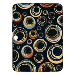 Seamless Cubes Texture Circle Black Orange Red Color Rainbow Samsung Galaxy Tab 3 (10 1 ) P5200 Hardshell Case  by Alisyart