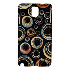 Seamless Cubes Texture Circle Black Orange Red Color Rainbow Samsung Galaxy Note 3 N9005 Hardshell Case by Alisyart