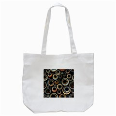 Seamless Cubes Texture Circle Black Orange Red Color Rainbow Tote Bag (white) by Alisyart