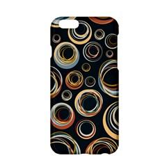 Seamless Cubes Texture Circle Black Orange Red Color Rainbow Apple Iphone 6/6s Hardshell Case by Alisyart