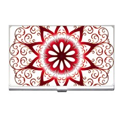 Prismatic Flower Floral Star Gold Red Orange Business Card Holders by Alisyart