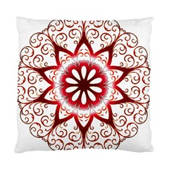 Prismatic Flower Floral Star Gold Red Orange Standard Cushion Case (two Sides) by Alisyart