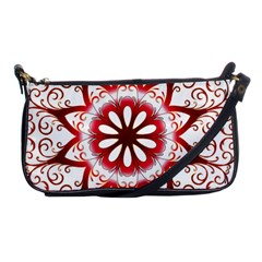 Prismatic Flower Floral Star Gold Red Orange Shoulder Clutch Bags by Alisyart