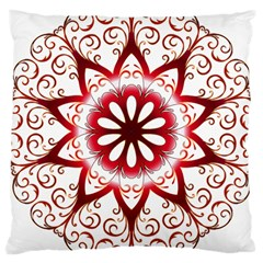 Prismatic Flower Floral Star Gold Red Orange Large Cushion Case (two Sides) by Alisyart