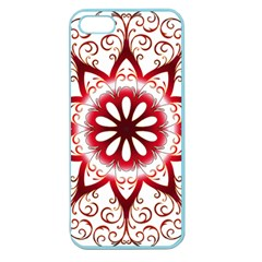 Prismatic Flower Floral Star Gold Red Orange Apple Seamless Iphone 5 Case (color) by Alisyart