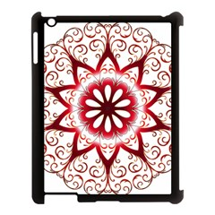 Prismatic Flower Floral Star Gold Red Orange Apple Ipad 3/4 Case (black) by Alisyart