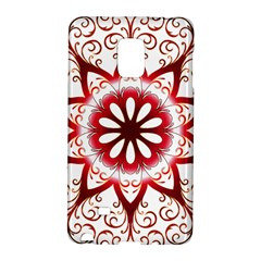 Prismatic Flower Floral Star Gold Red Orange Galaxy Note Edge by Alisyart