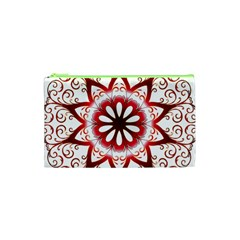Prismatic Flower Floral Star Gold Red Orange Cosmetic Bag (xs) by Alisyart