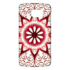 Prismatic Flower Floral Star Gold Red Orange Galaxy S6 by Alisyart