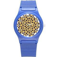 Star Orange Blue Round Plastic Sport Watch (s) by Alisyart