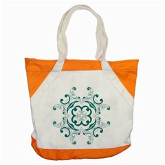Vintage Floral Star Flower Blue Accent Tote Bag by Alisyart