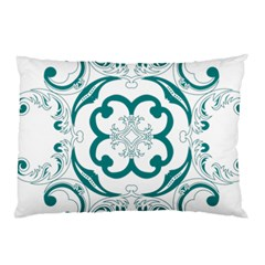 Vintage Floral Star Flower Blue Pillow Case (two Sides) by Alisyart