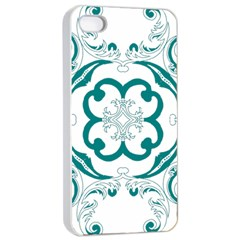 Vintage Floral Star Flower Blue Apple Iphone 4/4s Seamless Case (white) by Alisyart