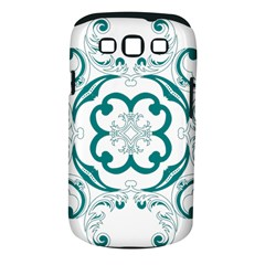 Vintage Floral Star Flower Blue Samsung Galaxy S Iii Classic Hardshell Case (pc+silicone) by Alisyart