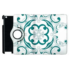 Vintage Floral Star Flower Blue Apple Ipad 3/4 Flip 360 Case by Alisyart