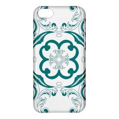 Vintage Floral Star Flower Blue Apple Iphone 5c Hardshell Case by Alisyart