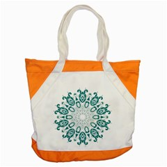 Vintage Floral Star Blue Green Accent Tote Bag by Alisyart