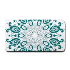 Vintage Floral Star Blue Green Medium Bar Mats by Alisyart
