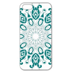 Vintage Floral Star Blue Green Apple Seamless Iphone 5 Case (clear) by Alisyart