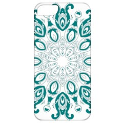 Vintage Floral Star Blue Green Apple Iphone 5 Classic Hardshell Case by Alisyart