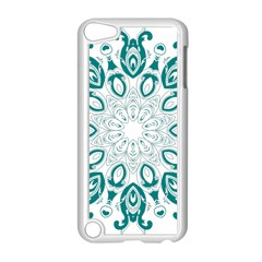 Vintage Floral Star Blue Green Apple Ipod Touch 5 Case (white) by Alisyart
