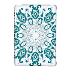 Vintage Floral Star Blue Green Apple Ipad Mini Hardshell Case (compatible With Smart Cover) by Alisyart