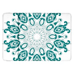 Vintage Floral Star Blue Green Samsung Galaxy Tab 8 9  P7300 Flip Case by Alisyart
