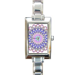 Prismatic Line Star Flower Rainbow Rectangle Italian Charm Watch by Alisyart