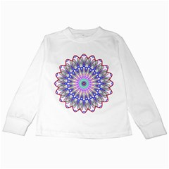 Prismatic Line Star Flower Rainbow Kids Long Sleeve T Shirts by Alisyart