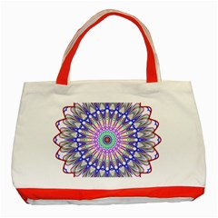 Prismatic Line Star Flower Rainbow Classic Tote Bag (red) by Alisyart