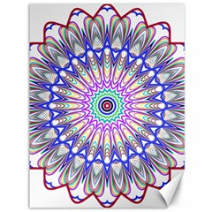 Prismatic Line Star Flower Rainbow Canvas 36  X 48   by Alisyart