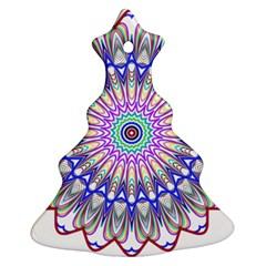 Prismatic Line Star Flower Rainbow Christmas Tree Ornament (two Sides) by Alisyart