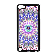 Prismatic Line Star Flower Rainbow Apple Ipod Touch 5 Case (black) by Alisyart