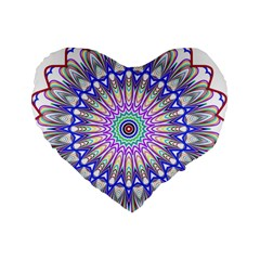 Prismatic Line Star Flower Rainbow Standard 16  Premium Heart Shape Cushions by Alisyart