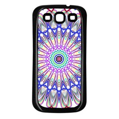 Prismatic Line Star Flower Rainbow Samsung Galaxy S3 Back Case (black) by Alisyart