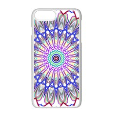 Prismatic Line Star Flower Rainbow Apple Iphone 7 Plus White Seamless Case by Alisyart